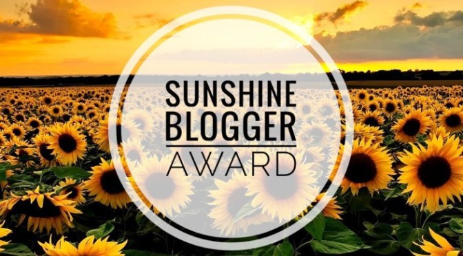 The Sunshine Blog Award Nomination!